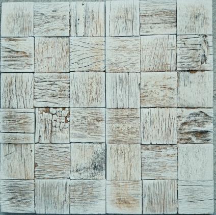 древесная мозайка коричневая платина